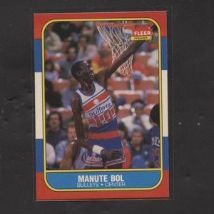 1986 FLEER BASKETBALL MANUTE BOL ROOKIE BULLETS